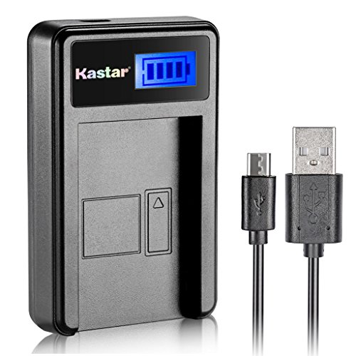 Kastar LCD Slim USB Charger for Samsung SLB-10A JVC BN-VH105 and Digimax ES55 ES60 EX2F L100 L110 L210 L310W M100 NV9 PL50 PL51 PL55 PL60 PL65 PL70 WB150F WB200F WB250F WB550 WB700 WB750 WB850F WB2100