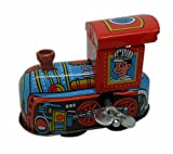 WIND UP Clock work Locomotive Tin Toy Vintage NEW Child Gift Collectible