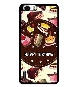 Printvisa 2D Printed Birthday Designer back case cover for Huawei Honor 6 - D4312