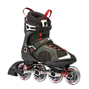 K2 Sports Mens F.I.T. 84 Fitness 2012 Inline Skates (Black Red) by K2