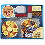 Melissa & Doug Wooden Flip and Serve Pancake Set