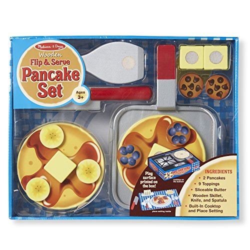 Melissa & Doug Wooden Flip and Serve Pancake Set - 1