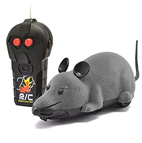 EocuSun Electric Remote Control Mouse Remote Control Animal Toys Pet Cat Toys Mouse Black Brown Grey (Grey) (Remote Control Mouse compare prices)