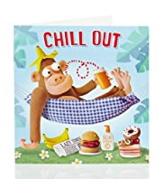 Monkey Chill Out Birthday Card