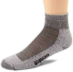 Wigwam Men\'s Cool-Lite Mid Hiker Pro Quarter Socks, Grey, X-Large