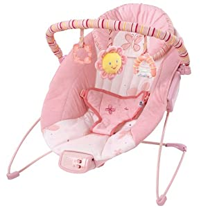 Amazon.com : Bright Starts Cradling Bouncer Pretty in Pink