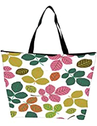 Snoogg Seamless Pattern With Leaf Waterproof Bag Made Of High Strength Nylon - B01I1KMUTO