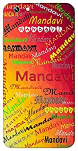 Mandavi (Wife of Bharat) Name & Sign Printed All over customize & Personalized!! Protective back cover for your Smart Phone : Moto G-4-PLAY