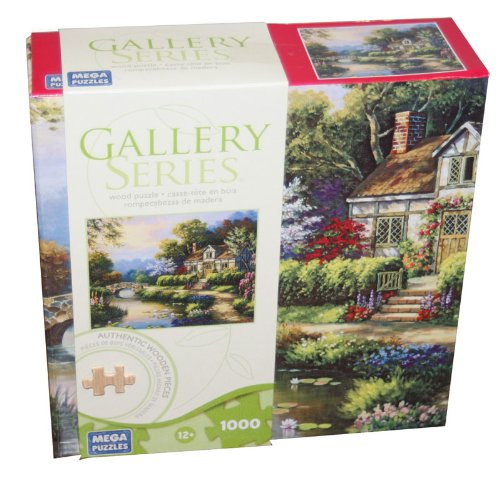 GALLERY SERIES AUTHENTIC WOOD PUZZLE Swan Cottage II 1000 Piece Puzzle