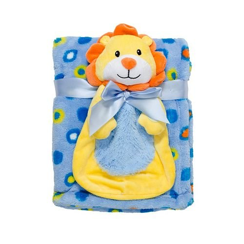 Babygear BB2002933 Big Face Squeaker Buddy With Blanket - Lion - 1