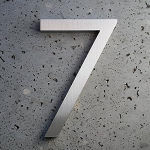 Modern House Number Aluminum Modern Font