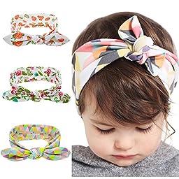 Baby Hairband Headwear, Baby Elastic Cloth Rabbit Ears Headdress, Baby Girl Soft Turban Headband Knotted Hair Band
