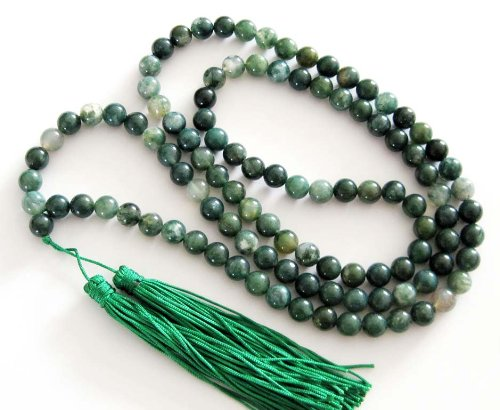 8mm Agate Beads Tibetan Buddhist Prayer Meditation 108 Mala Necklace