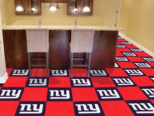 """New York Giants Carpet Tiles 18""""X18"""" Tiles - Fan-8543 front-1005200"""