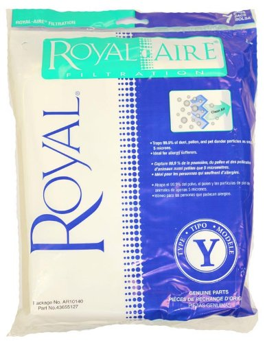 Royal Ar10140 Type Y Royal-Aire Upright Vacuum Bags 7 Pack