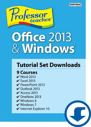 Professor Teaches Office 2013 & Windows Tutorial Set [Download]
