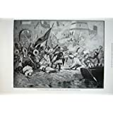 Los Militares del Ataque de la Guarnición de Soudanese Muestran a 1894 la Impresión Vieja