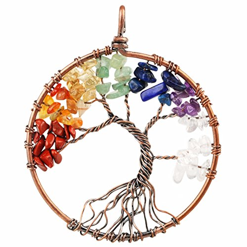 sunyik-mixed-stone-tree-of-life-pendant-tumbled-stone-healing-copper-plated