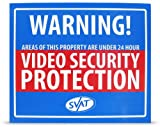 SVAT VU101-SGN Durable Aluminum Deterrent Security Yard Sign with Reflective Paint and UV Fade Protection