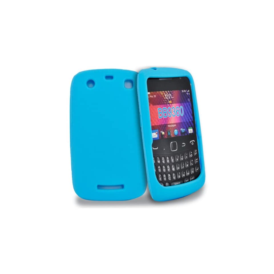 Mobile Palace  sky blue silicone case cover for blackberry curve 9360