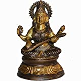 Indian Arts Shop Saraswati Brass (7.11 Cm X 11.18 Cm X 18.03 Cm, )