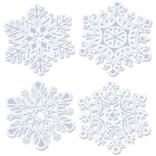 Glittered Snowflake Cutouts