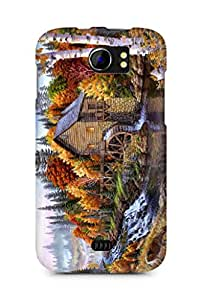 Amez designer printed 3d premium high quality back case cover for Micromax Canvas 2 A110 (Home)