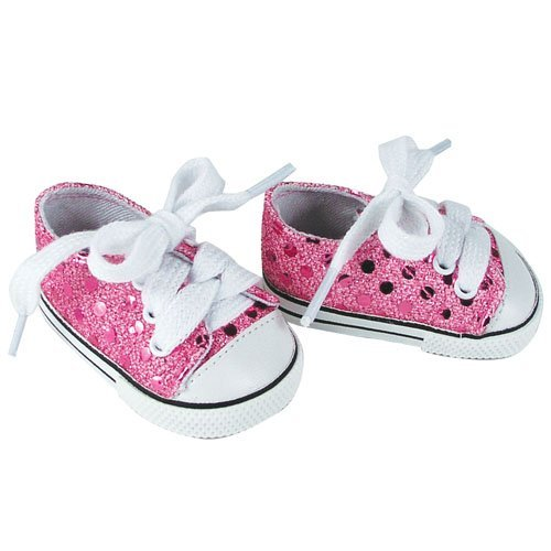 18 Inch Doll Sneakers. Light Pink Glitter Doll Sneakers Shoes Fit 18 Inch American Girl Dolls & More! Pink Glitter Sneakers