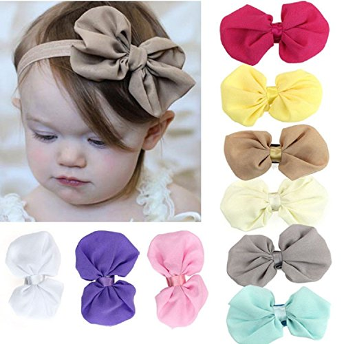 Susenstone-9PCS-Babys-Girls-Chiffon-Flower-Elastic-Headband-Photography-Headbands