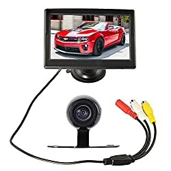 DBPOWER 5 Inch TFT LCD Car Rear View Camera Monitor and Wide Angel Auto Rearview Backup