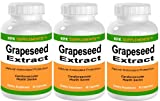 51TmrwX26VL. SL160  3 BOTTLES Grapeseed Extract 200mg per serving 270 total capsules KRK SUPPLEMENTS