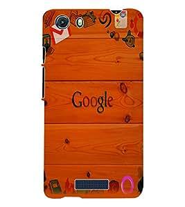 Fuson 3D Printed Google Designer Back Case Cover for Micromax Unite 3 Q372 - D985