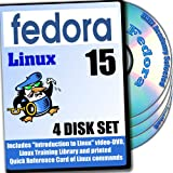 Fedora 15 Linux, 4-disks DVD Installation and Reference Set, Ed.2011
