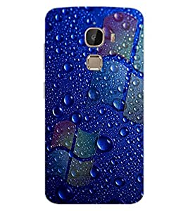 ColourCraft Water Drops Design Back Case Cover for LeEco Le 2 Pro