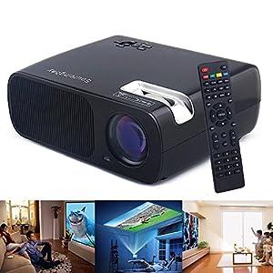 Sourcingbay PRJ-BL20-B HD LED Projector Cinema Theater USB/HDMI/TV or DTV/AV/YPBPR/VGA/Audio Input ,2600 Lumens,2000:1 (Black)