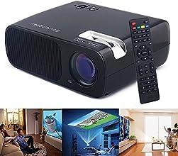 Sourcingbay PRJ-BL20-B HD LED Projector Cinema Theater USBHDMITV or DTVAVYPBPRVGAAudio Input 2600 Lu