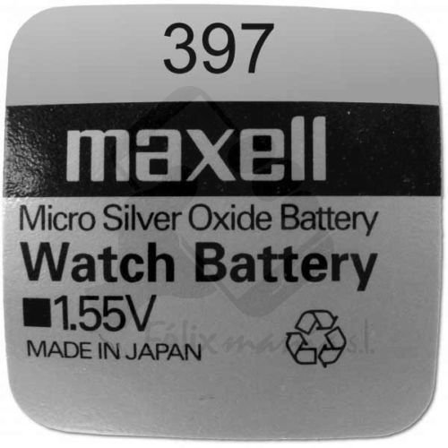 1 X Pile Maxell Batterie Original SR726SW 397 1,55 V Pile Oxyde D'argent Maxell Felixmania® Boutons