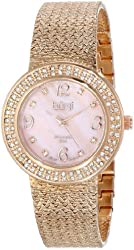 Burgi Women's BUR097RG Analog Display Swiss Quartz Rose Gold Watch