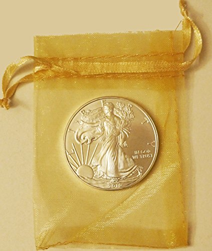 2014 American Eagle (1 Oz Silver) In Translucent Gold Pouch Dollar Uncirculated Us Mint