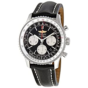 Breitling Men's Navitimer 01 Stainless & Leather Chronograph Watch