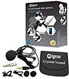 iGear Lavalier Lapel Microphone Clip-on Omnidirectional Condenser Mic for Apple iPhone, iPad, iPod Touch, Samsung Android & Windows Smartphones Film Interviews Video Recording(1.5 Meters Cable) (1.5M)