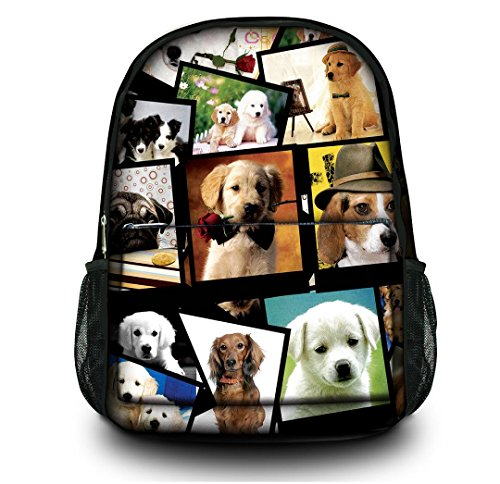 "New Fashion many cute dog Women Men (boy & girl) Comfortable Rucksack Bookbag Satchel Shoulder Cover Outdoor School Traveling Gym Bag Office Casual Canvas Backpack Bag Washable Case Protector ,holds laptops 13"" 14"" 15"" 15.6 inches in size , great for"