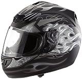 H-510-GR Motorcycle Helmet Matte Grey / Black