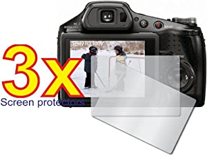 3x Sony CyberShot DSC-HX100V DSC-HX100 Digital Camera Premium Clear LCD Screen Protector Cover Guard Shield Film Kit, No cutting is required! Perfect fit with satisfaction guaranteed!