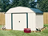 Arrow Shed VS108-A Vinyl Coated Sheridan 10-Feet by 8-Feet Steel Storage Shed