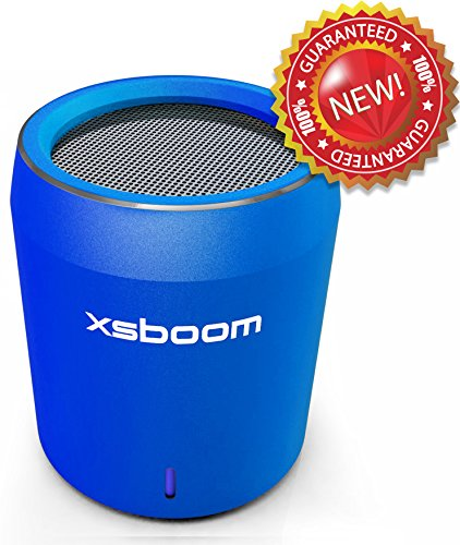 Xsboom™ Mini Portable Bluetooth Speaker With Microphone | Free Gift Box And Carry Bag | Best 2014 Rechargeable Sound System Speakers | Wireless V4 Connection To Iphone Ipad Ipod Computer Macbook Pro Android | Perfect Gift For Christmas Mom Dad Teenager Gr