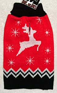 "DOG REINDEER ""UGLY"" SWEATER Christmas Holidays Winter Pet Turtleneck SMALL from Horizon"