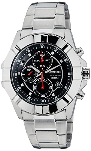 Seiko Lord Chronograph Black Dial Mens Watch - SNDD73P1