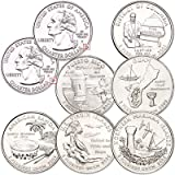 12 2009 P & D D.C. & U.S. Territories Quarter Set Uncirculated Coins All Territory Collection