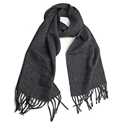 100% Cashmere Scarf From Inner Mongolia in Gray - hcs-005